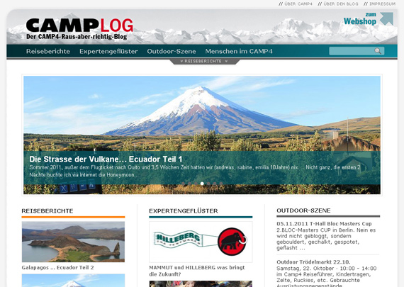 Camp 4 Outdoor Blog Design