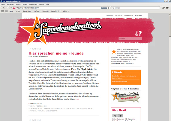 Los Superdemokraticos Webseite
