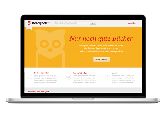 Readgeek. Corporate Design. Webseite.
