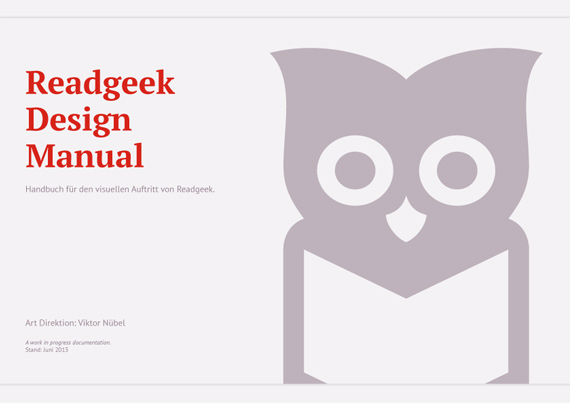 Readgeek. Corporate Design. Style Guide.