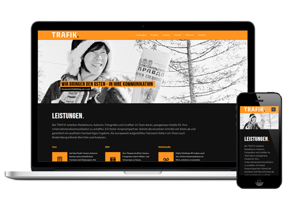 Trafik. Corporate Publishing. Logo & Web-Design. 02