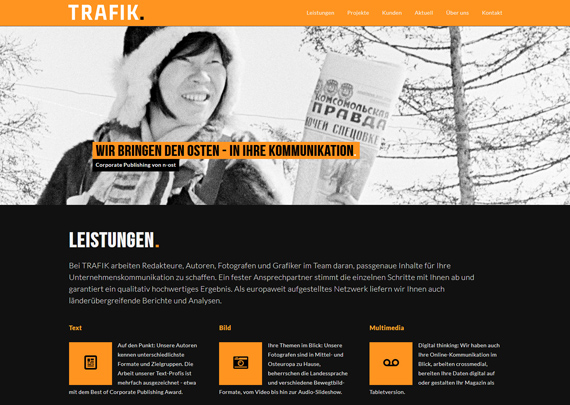 Trafik. Corporate Publishing. Logo & Web-Design. 03