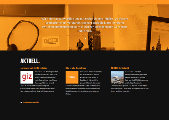 Trafik. Corporate Publishing. Logo & Web-Design. 05