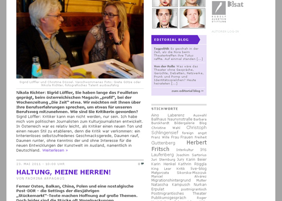 Theatertreffen-Blog 2011 Design